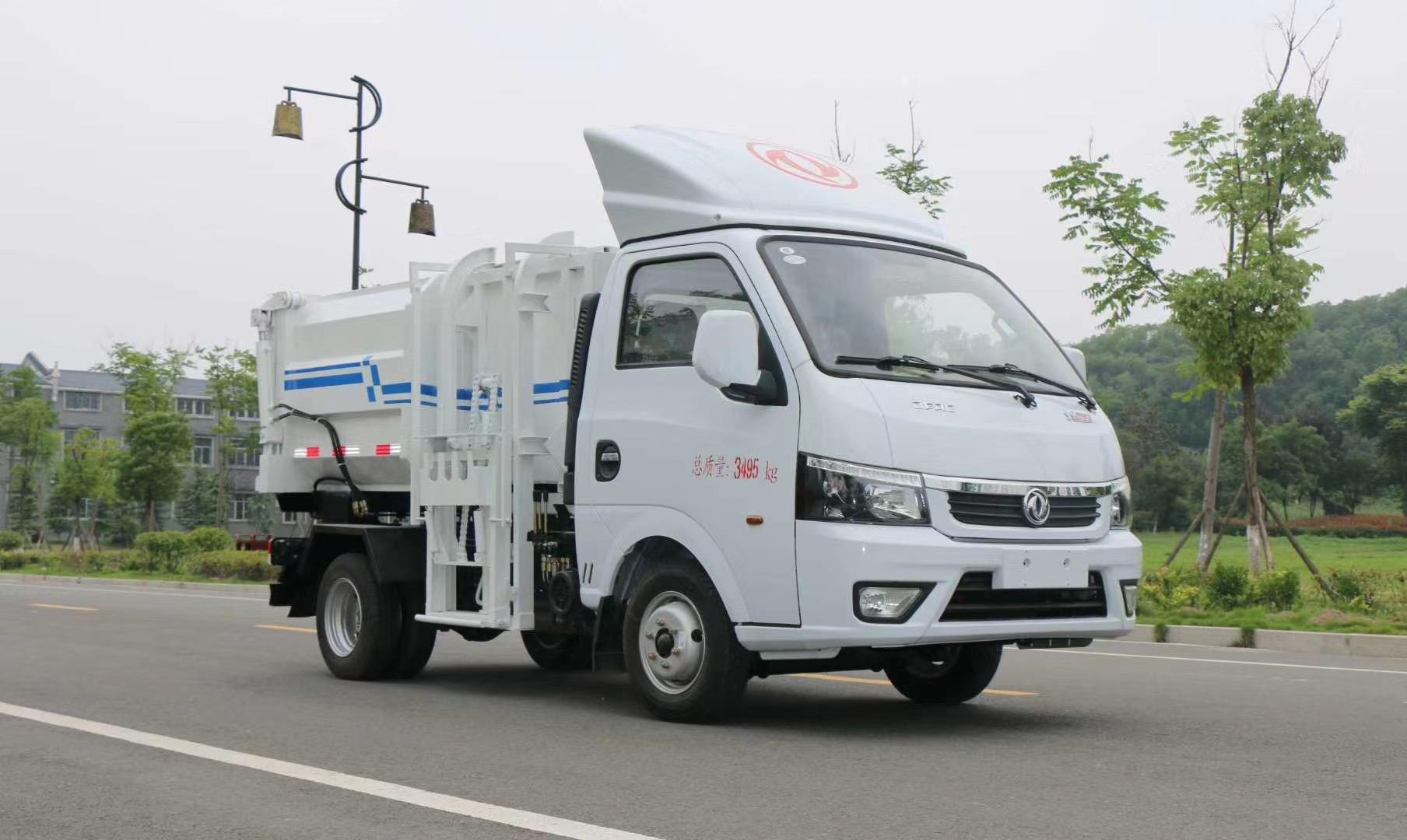 3吨国六东风途逸挂桶垃圾车图片
