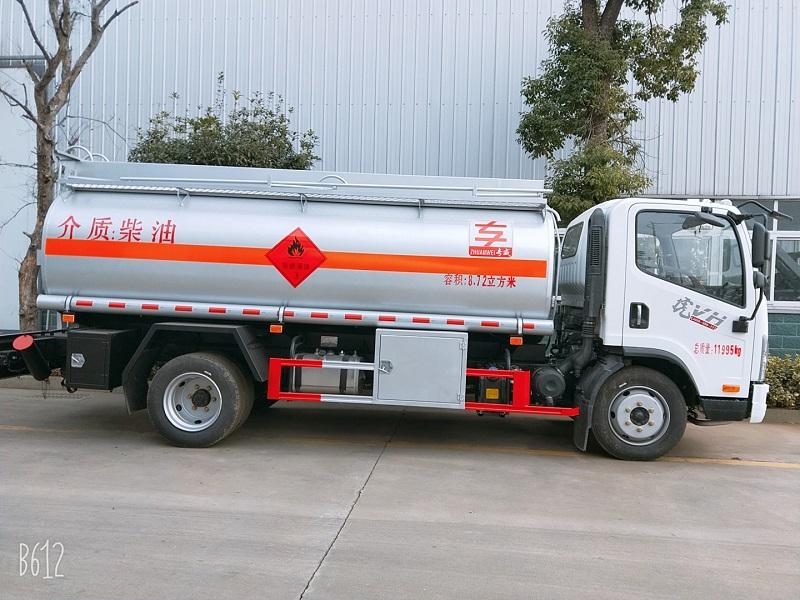 8吨油罐车价格 解放8.72立方油罐车现车低价出售 视频视频