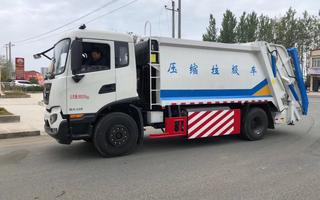 國六東風天錦CNG天然氣壓縮式垃圾車圖片
