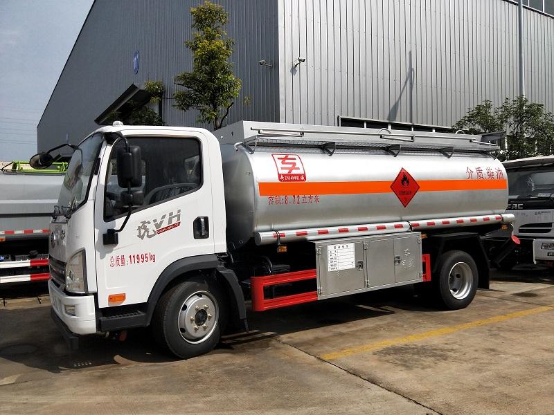 解放虎V8.72方油罐车 8吨加油车潍柴140马力 配置视频图片