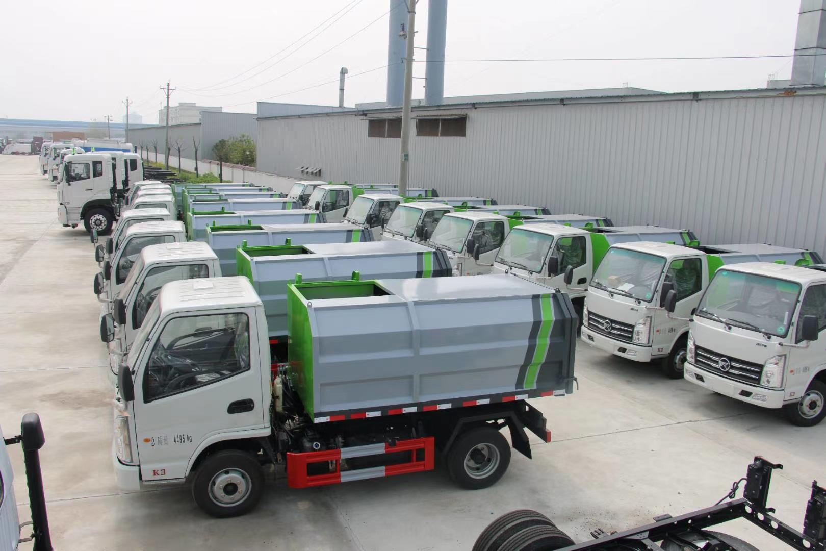 國六凱馬4方自裝卸式掛桶垃圾車