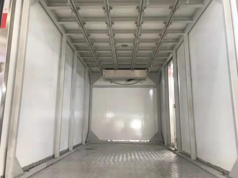 鲜肉冻肉冷藏运输车?可拆卸导轨好上牌视频