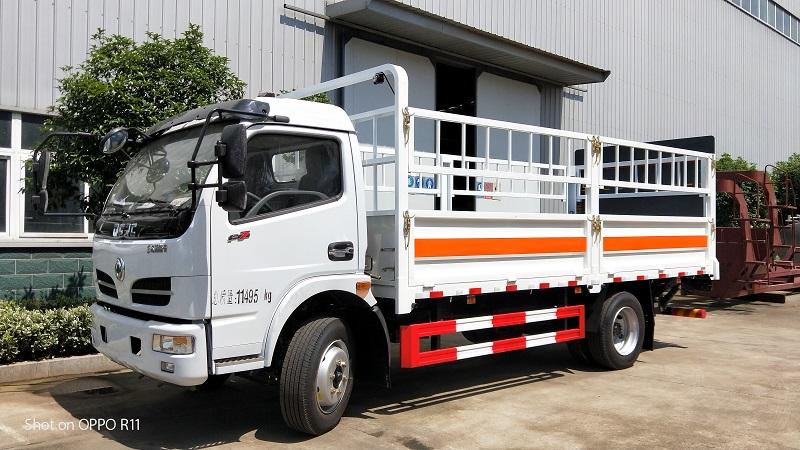 东风5.15米4.1吨气瓶运输危险品二类液化气体运输车视频视频