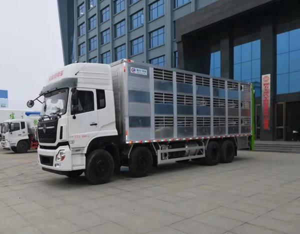 铝合金畜禽运输车 铝合金运猪车视频