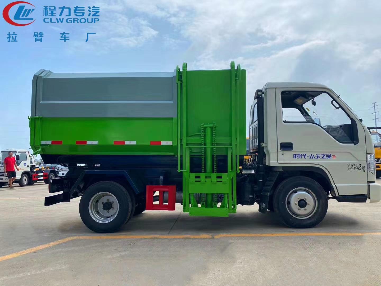 國六福田小卡2自裝卸式掛桶垃圾車 柴油版