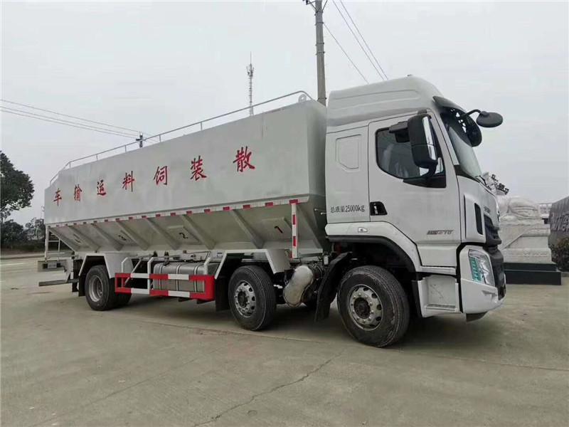 国六30立方散装饲料运输车