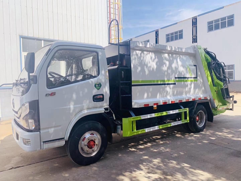 国六6方压缩垃圾车配置图片图片