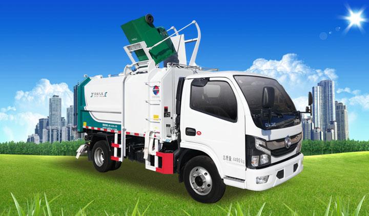同辉汽车自装卸式垃圾车作业(无推板)视频