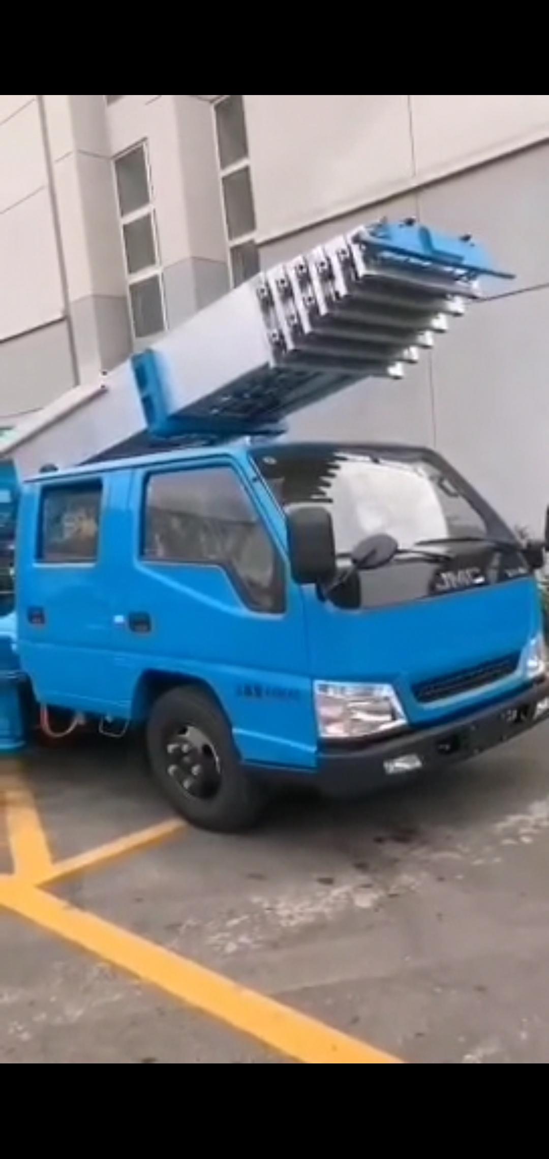 32米蓝牌又云梯车价格报价视频