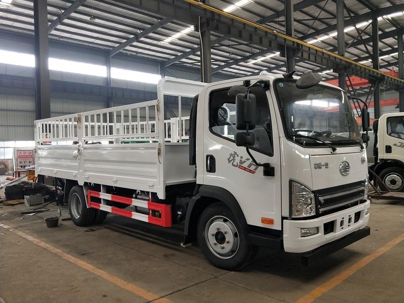 解放4.2米气瓶运输车(仓栏) 液化石油气 2类危险品运输车视频