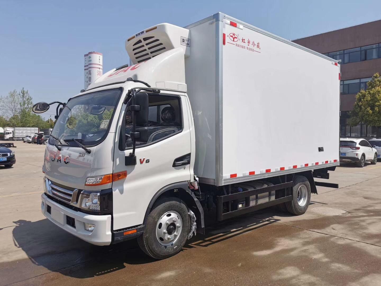江淮骏铃V6国六冷藏车多少米