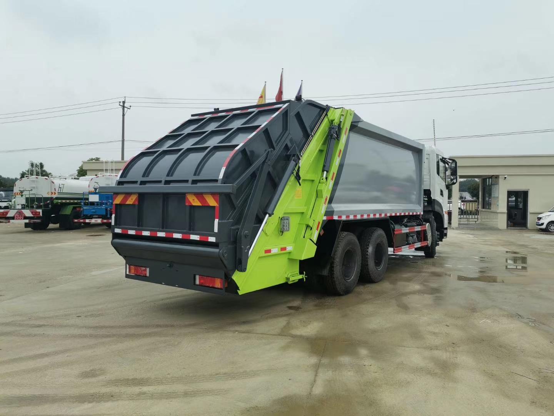 东风国六天龙后八轮18方压缩垃圾车图片