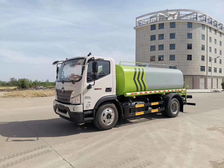 国六福田瑞沃9吨洒水车价格报价图片