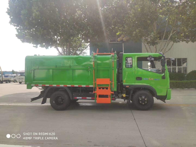 国六时风蓝牌自卸垃圾车价格报价图片