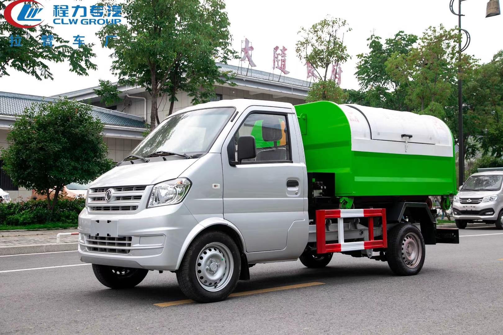 国六3方东风勾臂垃圾车价格图片