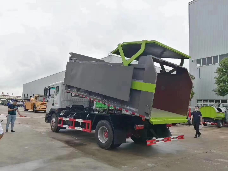 国六D9东风12方翼展对接垃圾车价格图片