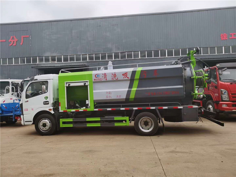 惊爆价市政环卫8吨小型清洗吸污车图片
