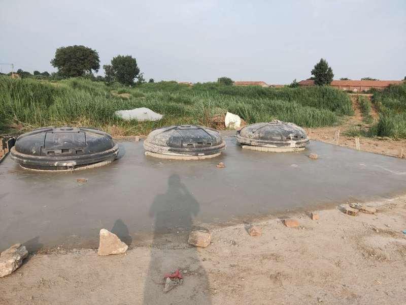 深埋式垃圾桶安装图片·,天津滨海新试点