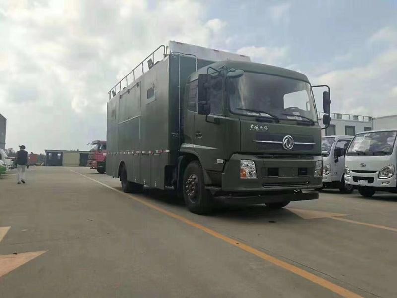 东风天锦150-500人自行式炊事车餐车
