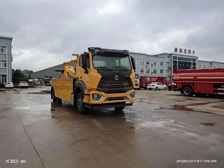 13吨重汽豪瀚一拖一大型拖车厂家德国曼310马力图片图片