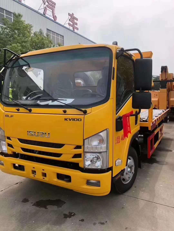 庆铃五十铃拖车厂家宽体驾驶室一拖二救援拖车KV100与KV600区别