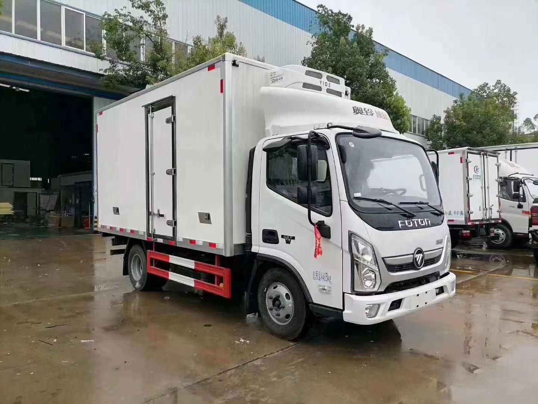 国六福田奥铃速运4米2蓝牌冷藏车图片