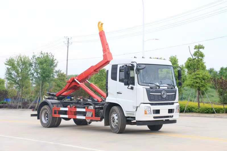 10吨东风天锦钩臂垃圾车厂家价格车型配置图片图片