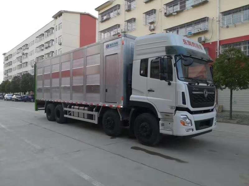 春风天龙9.6米铝合金畜禽运输车图片