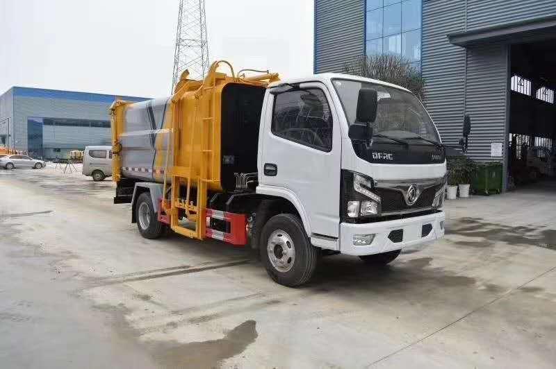 国六东风多利卡7.2方侧装压缩垃圾车图片