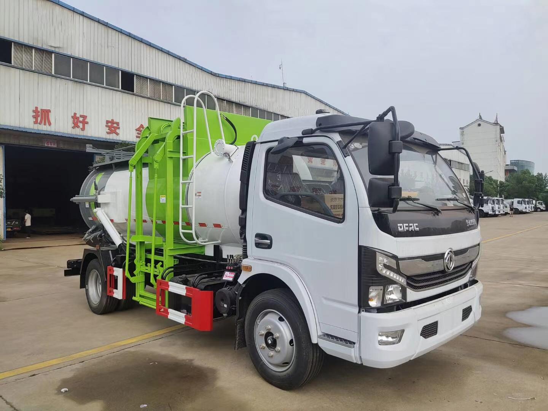东风国六8方餐厨垃圾车带分离装置图片