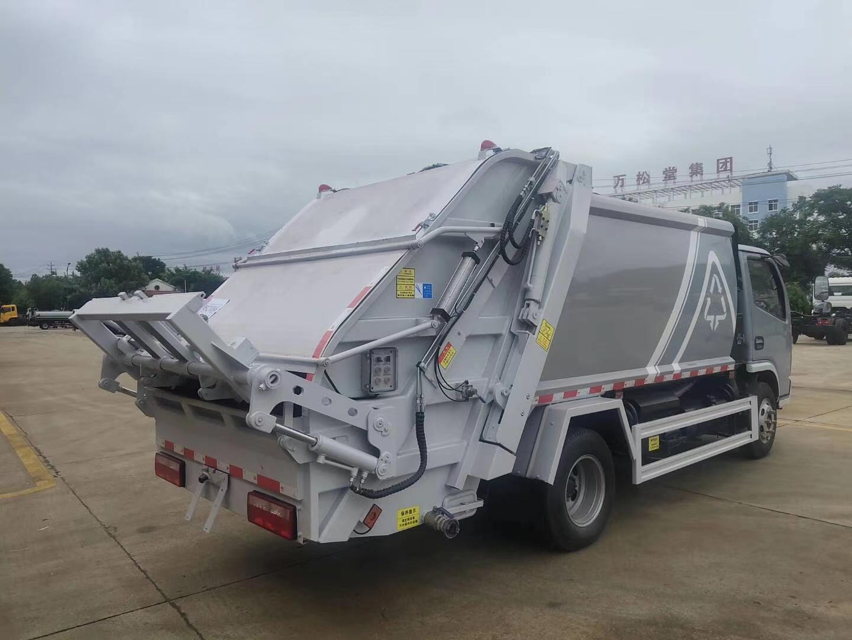 国六北京牌照6方压缩垃圾车厂家直销图片