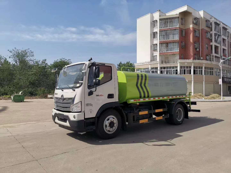 15方福田瑞沃洒水车厂家价格大优惠国六220马力驾驶室视频图片
