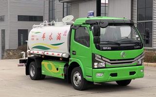 国六东风福瑞卡6方天然气洒水车图片