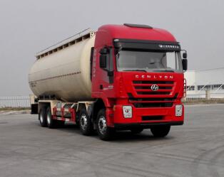 红岩杰狮430马力 40方散装水泥罐车 不超重 全球上户无忧