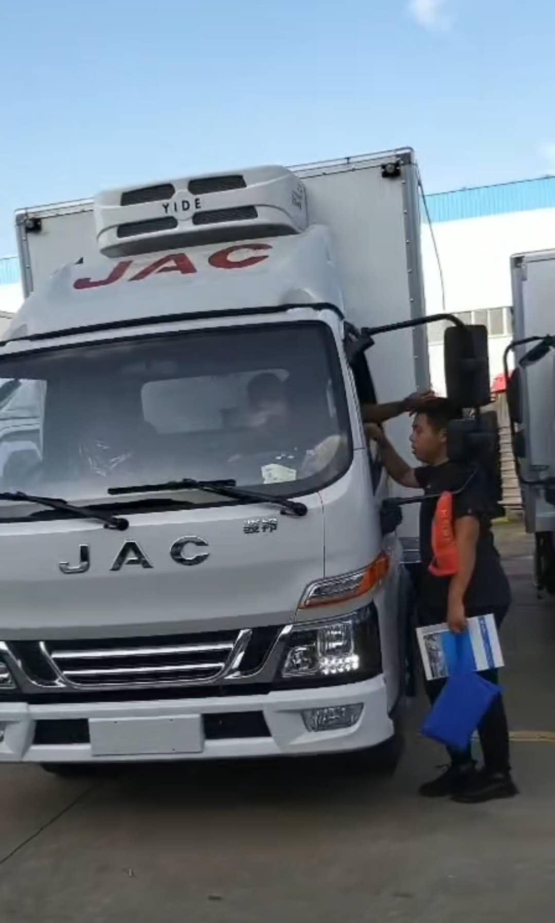 冷藏车江淮骏铃V5发车视频