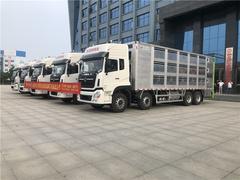 市場上最火爆的歐曼9.6米拉豬車和東風天龍鋁合金9.6米拉豬車廠家直銷