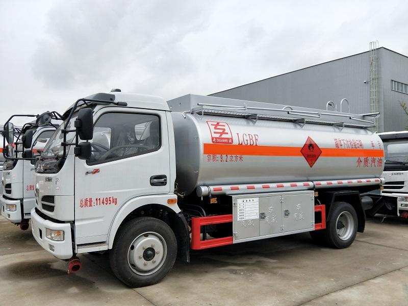 新款9.2方汽油加油车厂家 东风多利卡流动8吨加油车视频视频