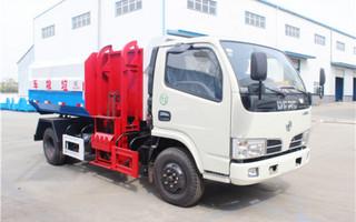 东风多利卡5吨挂桶式垃圾车D6图片