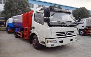 东风多利卡8吨挂桶式垃圾车D7图片