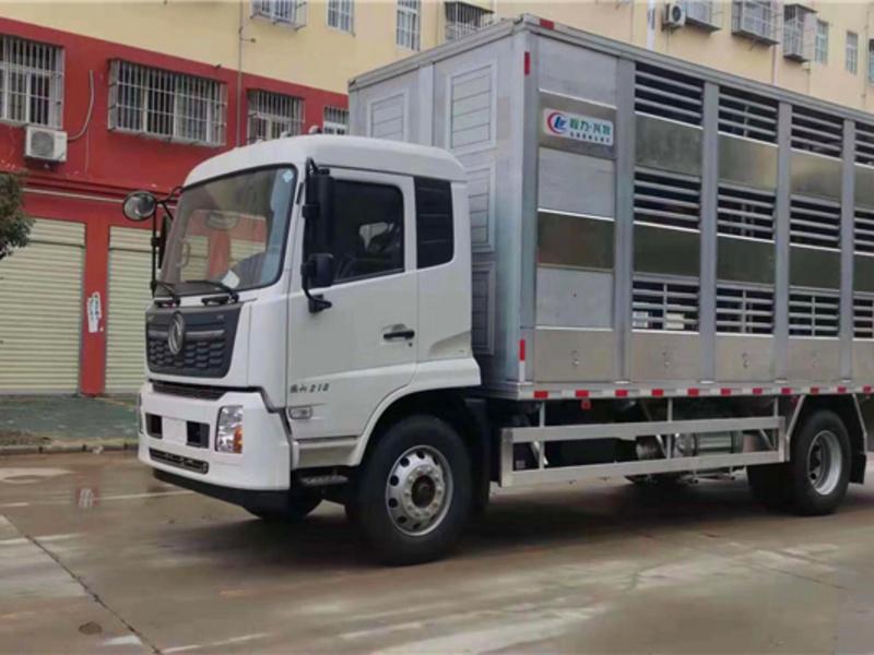 东风天锦6米8铝合金运猪车厂家_多少钱