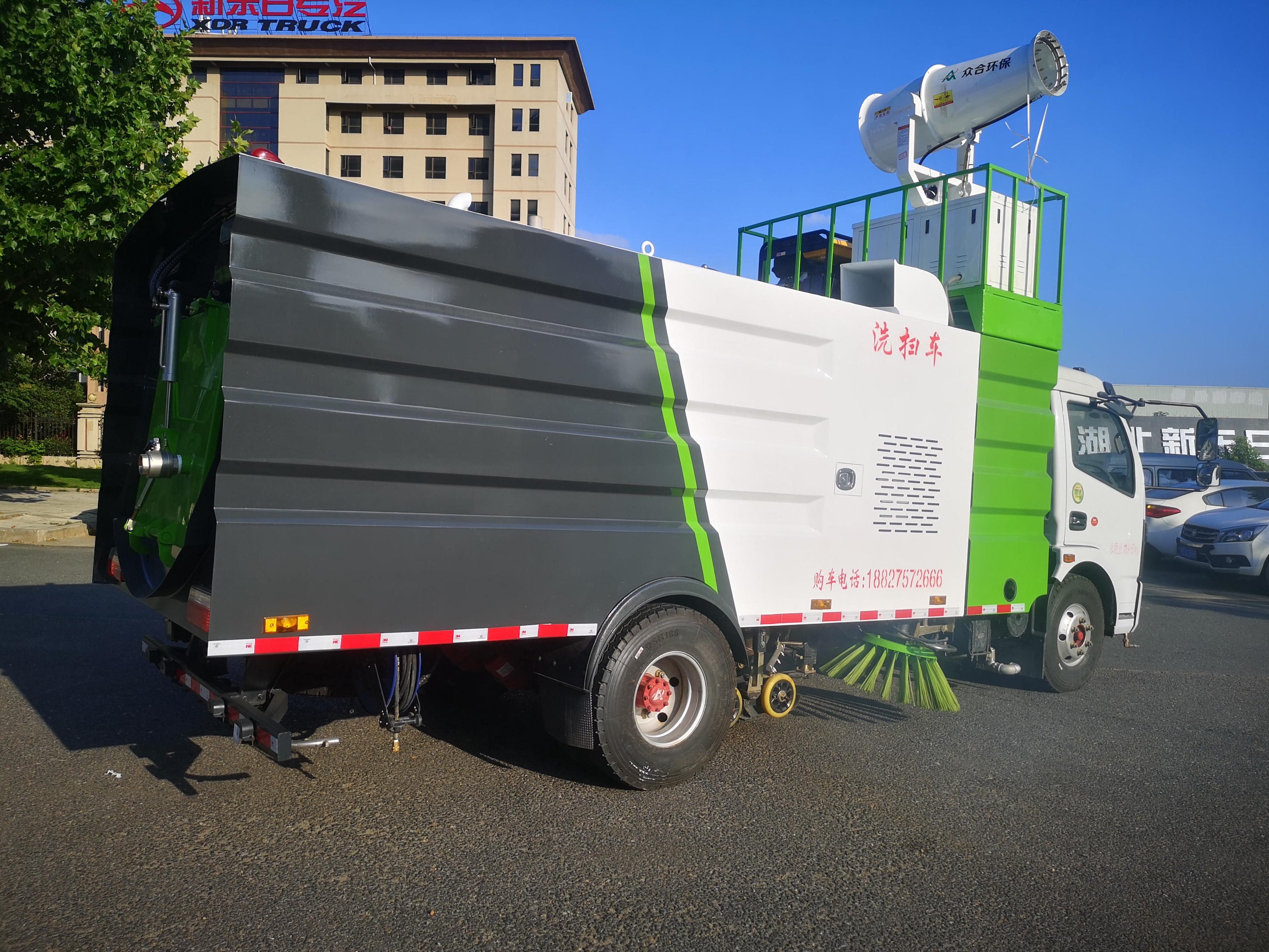 东风多利卡8吨洗扫车加装30雾炮发车邢台图片
