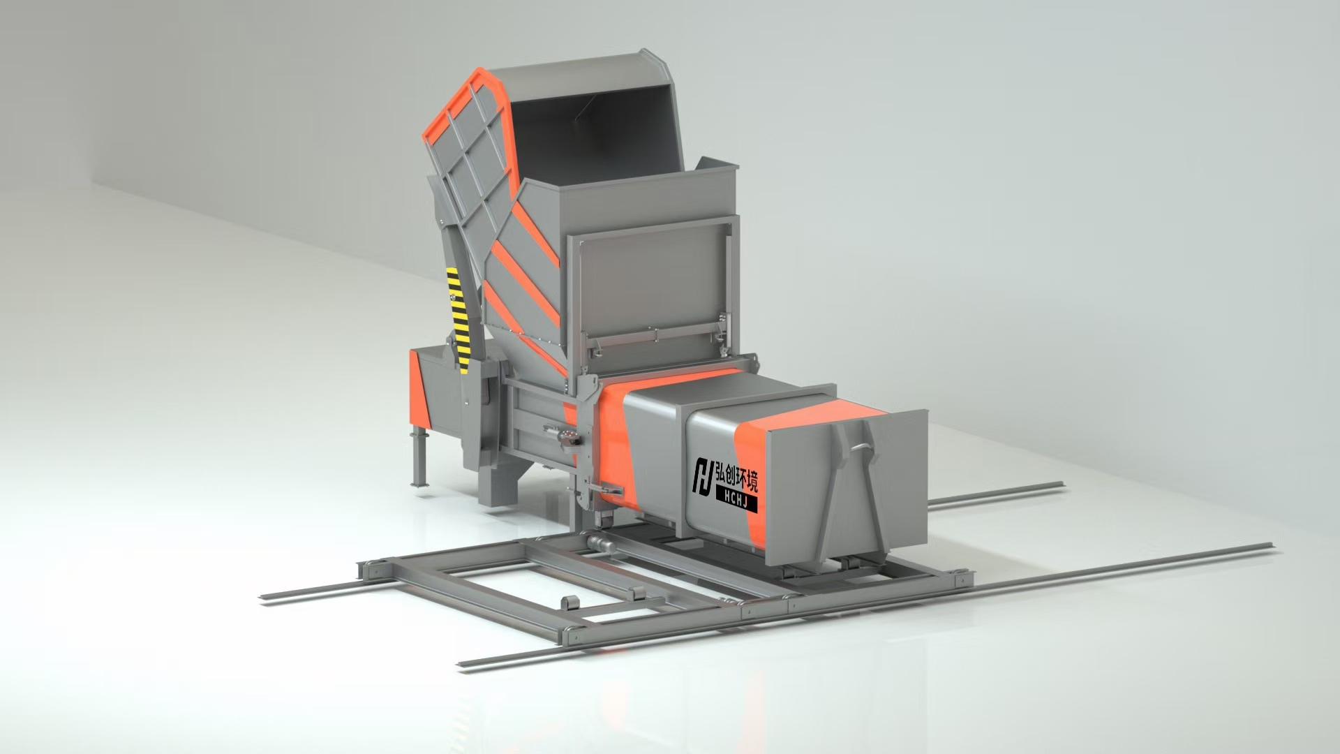 移动压缩垃圾站3D图图片