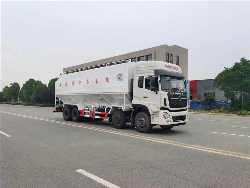 国六东风天龙20吨散装饲料车厂家价格