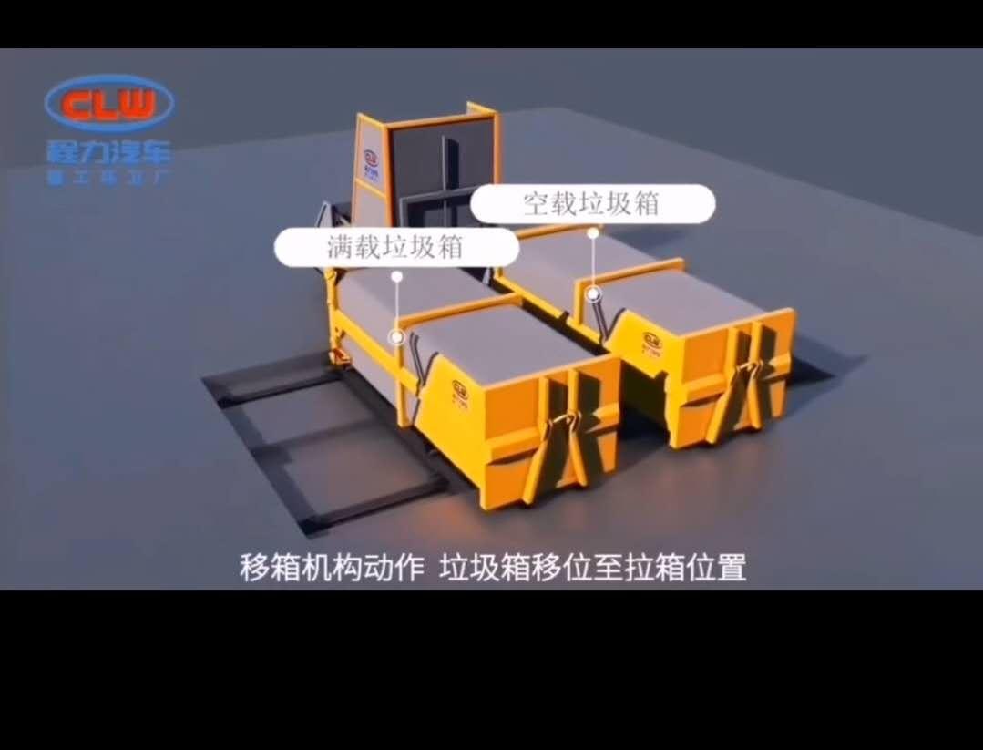 环卫10吨级水平直压式成套设备:配置JHSZ10水平直压式垃圾压缩机+15方水平直压式垃圾箱;设备理论处理能力10t/h,日处理能力50t;进料仓容积3m³,最大压缩力360KN,可选装后翻、侧翻上料视频