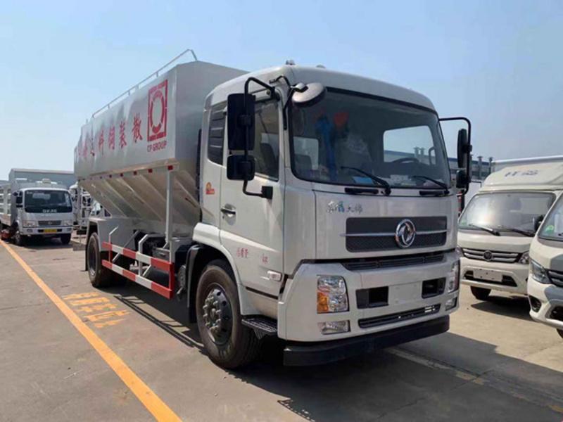 国六东风天锦12吨散装饲料车