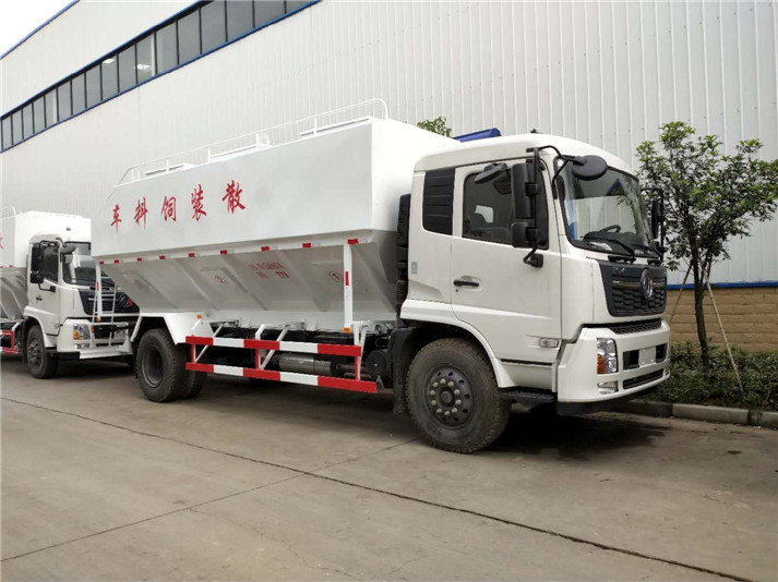 东风天锦22立方散装饲料运输车