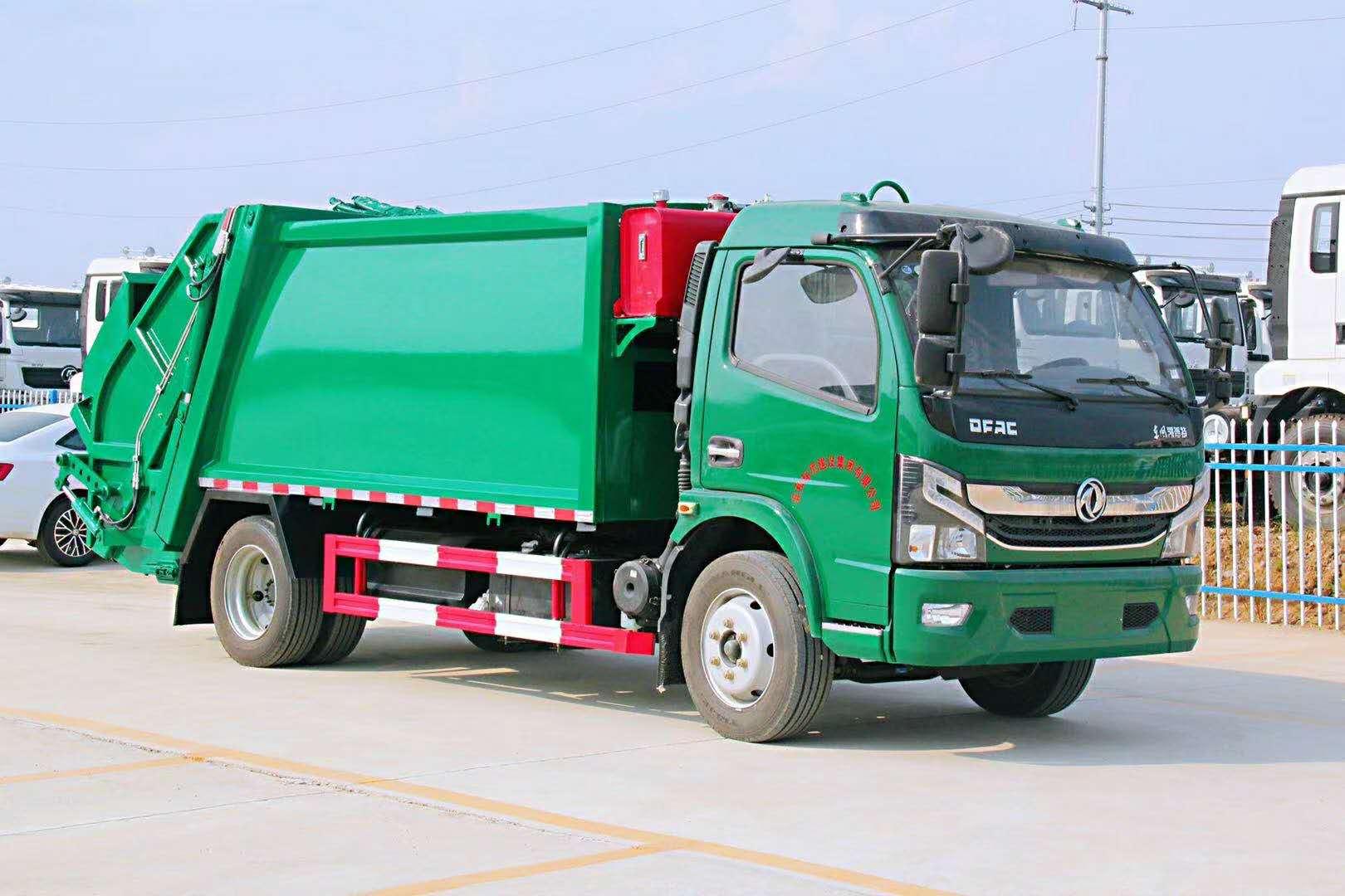 国六8方挂桶压缩垃圾车 小区环境治理专用