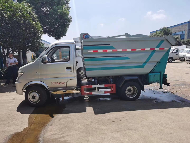 小型無泄漏壓縮垃圾車!圖片
