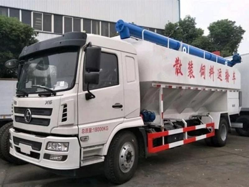 陕汽X6单桥20方散装饲料运输车配置及图片
