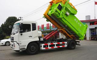 東風天錦16噸勾臂垃圾車圖片
